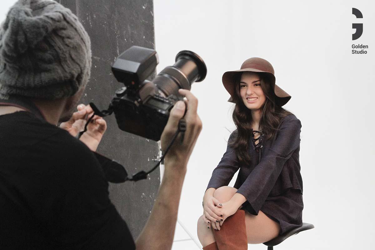 Sesión de fotografía modelo